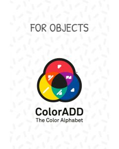 Stickers with the ColorADD colour alphabet