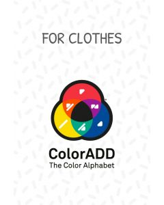 Iron-on labels  with ColorADD Colour Alphabet;
