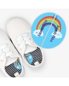 Left and Right Shoe Labels - Rainbow