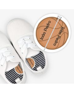 Left and Right Shoe Labels - Basket