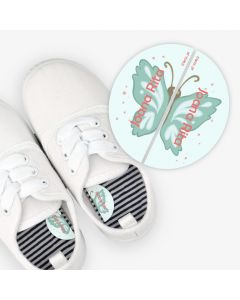 Left and Right Shoe Labels - Butterfly