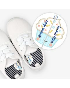 Left and Right Shoe Labels - Cupcake