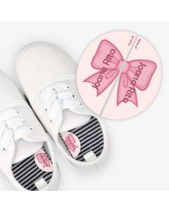 Left and Right Shoe Labels -  Pink Bow