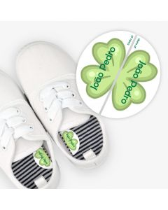 Left and Right Shoe Labels - Clover