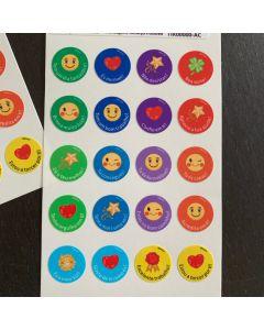 Round Positive Reinforcement Stickers