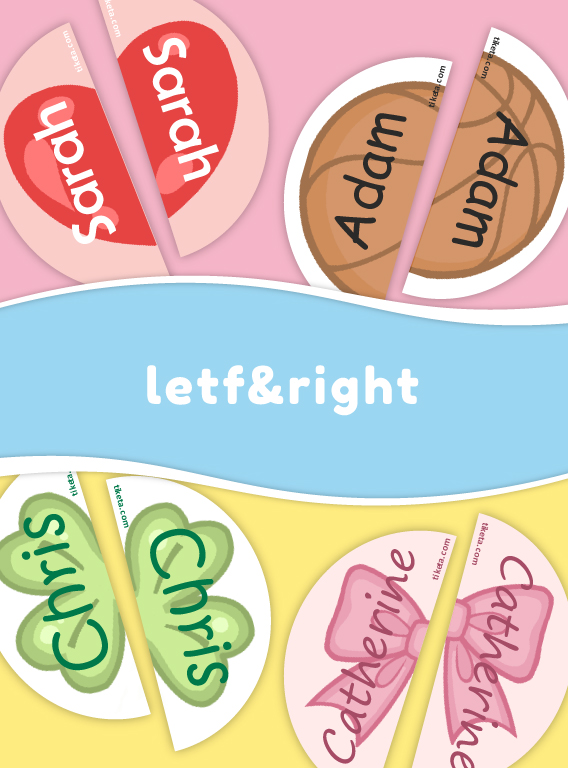 Left and Right Shoe Labels