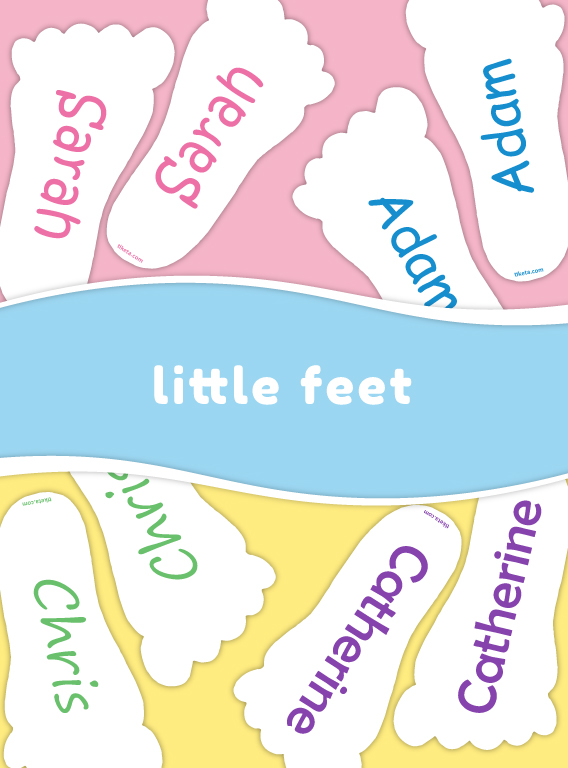 Foot-shaped shoe labels